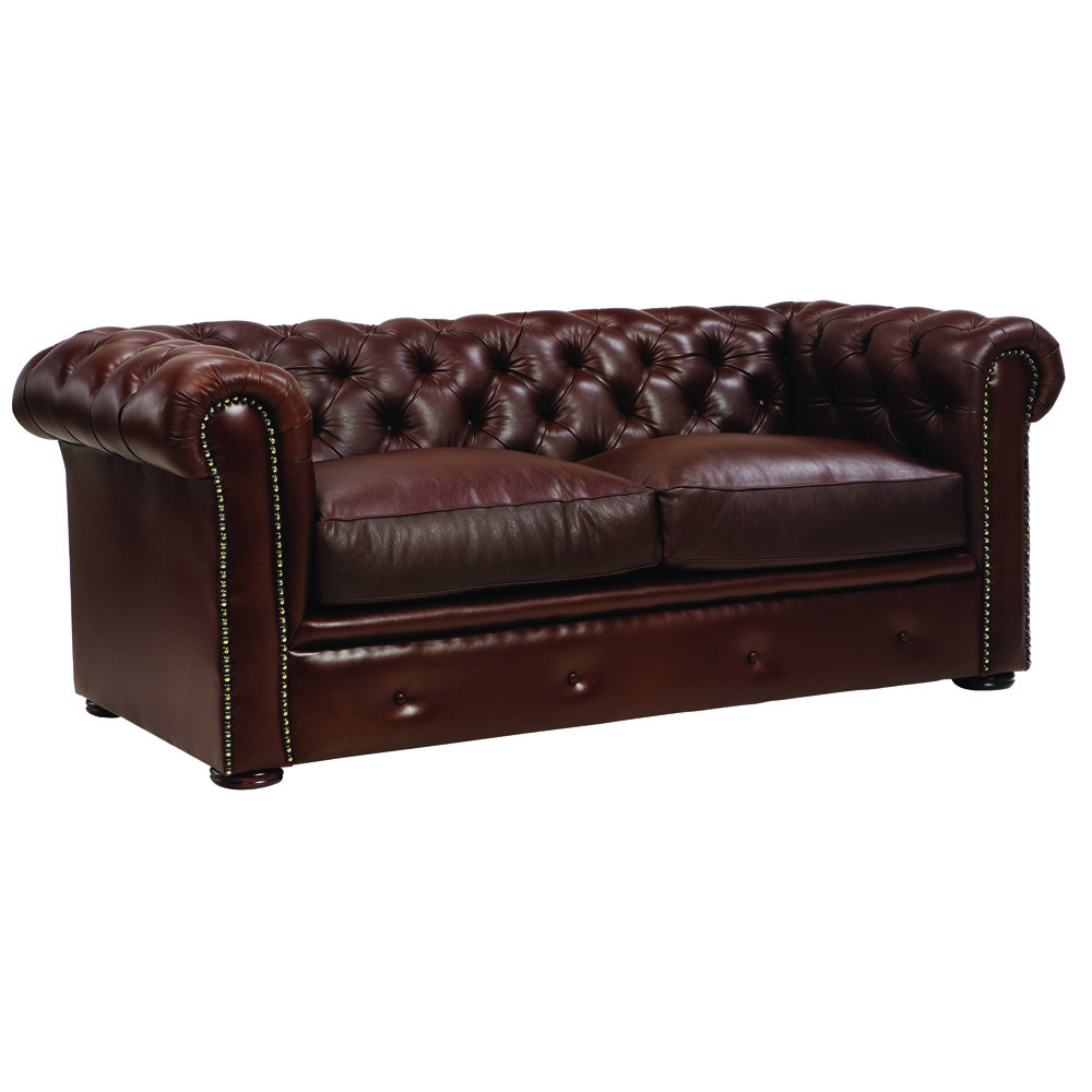 Deep Clean Leather Sofa: CHESTERFIELD Deep Buttoned Couch