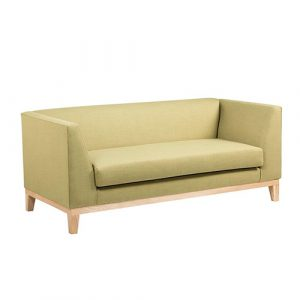 The Boxy Couch in Soft Green Tones from Leisure Lounge