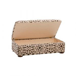 Leisure Lounge Storage Ottoman in Cream and Brown