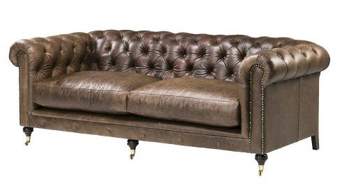 Leather Couches - Leisure Lounge Chesterfield Leather Couch