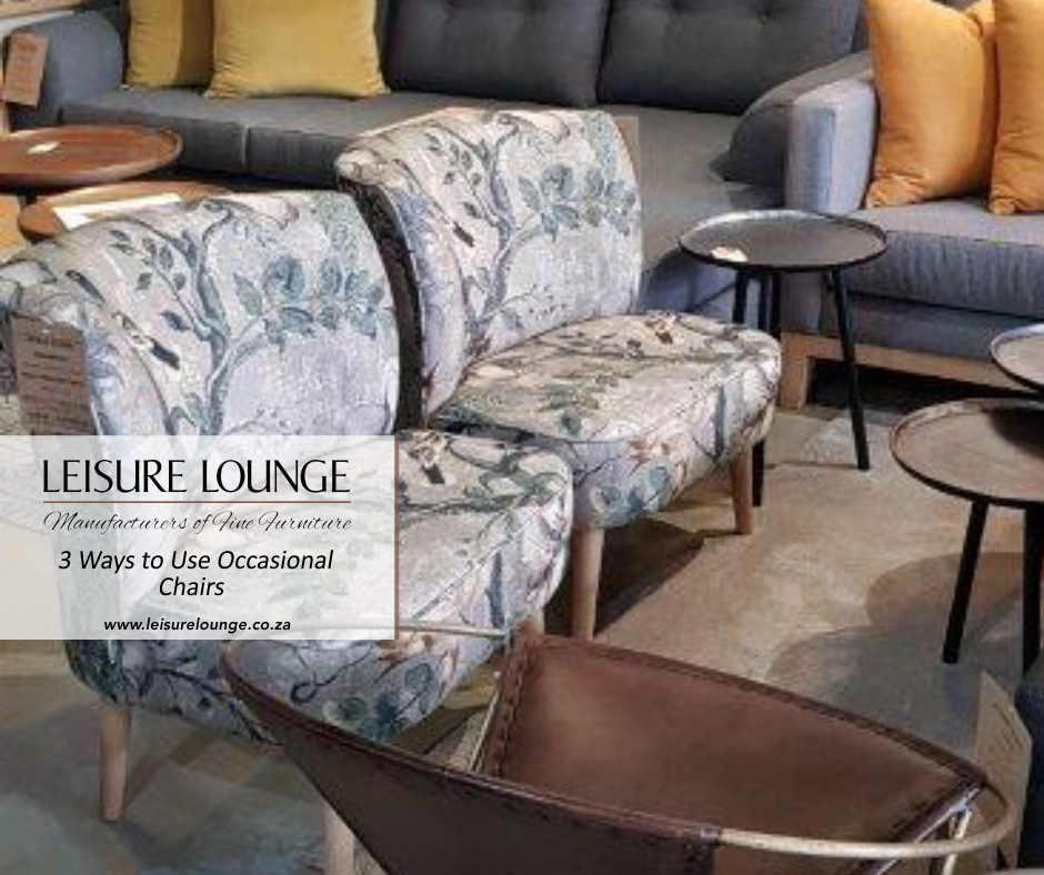 two stylish occasional chairs from Leisure Lounge