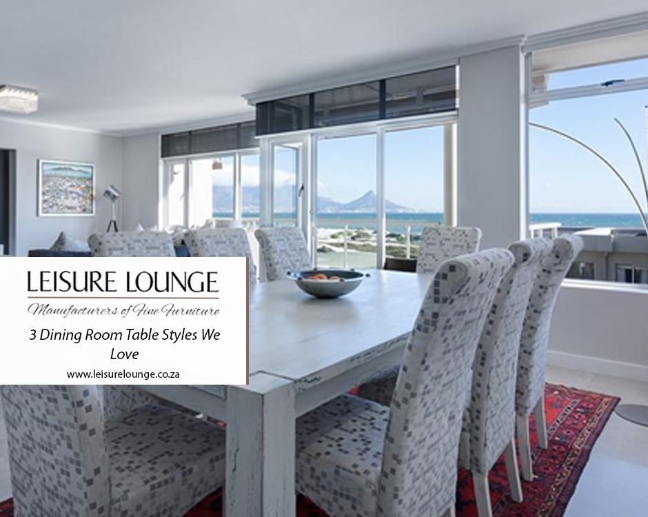 White dining room table perfectly complimenting the white open-plan interior of Cape Town house.
